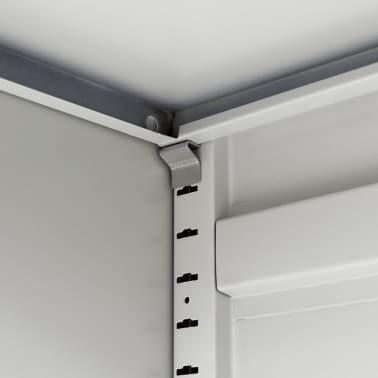 """vidaXL Office Cabinet with 4 Doors Steel 35.4""""x15.7""""x70.9"""" Gray[8/10]"""