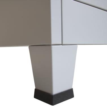 vidaXL Office Cabinet with 4 Doors Steel 90x40x180 cm Grey[9/10]