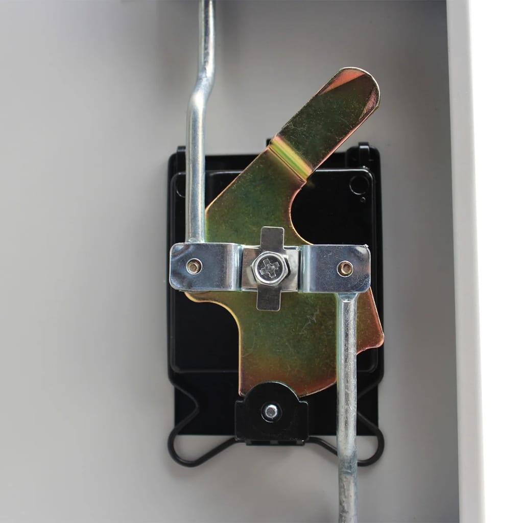 Zamykací skříň se 2 dvířky ocelová 90x40x180 cm šedá