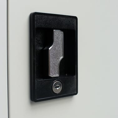 vidaXL Locker Cabinet with 2 Doors Steel 90x40x180 cm Grey[7/9]