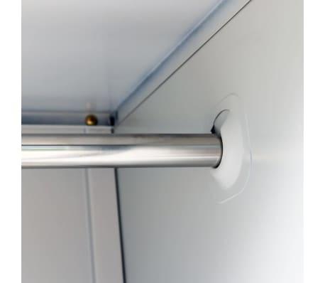 vidaXL Armoire à casiers avec 3 compartiments Acier 90x45x180 cm Gris[5/8]