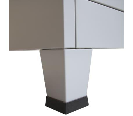 vidaXL Armoire à casiers avec 3 compartiments Acier 90x45x180 cm Gris[7/8]