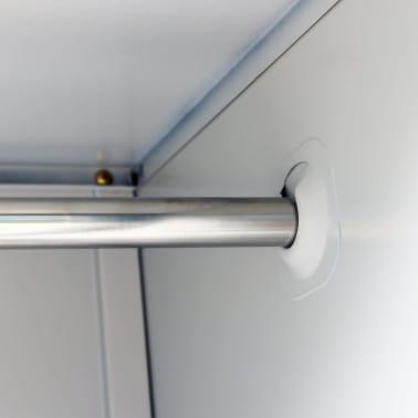 vidaXL Locker Cabinet with 3 Compartments Steel 90x45x180 cm Grey[5/8]