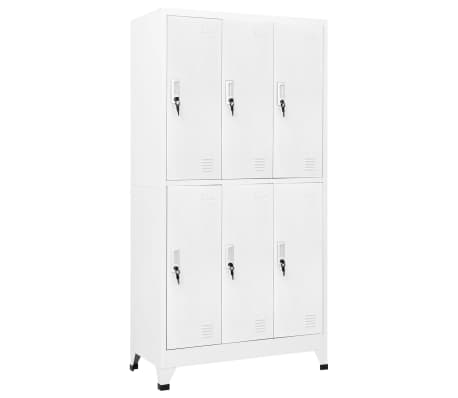"vidaXL Locker Cabinet with 6 Compartments Steel 35.4""x17.7""x70.9"" Gray"