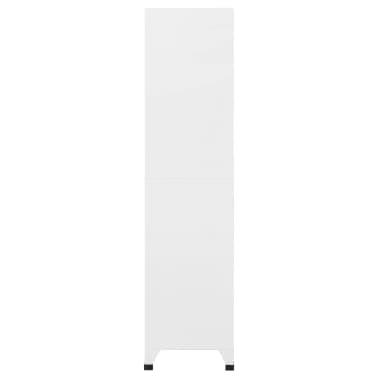 vidaXL Cacifo com 6 compartimentos aço 90x45x180 cm cinzento[4/9]