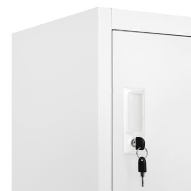 vidaXL Lockerkast met 6 vakken 90x45x180 cm staal grijs[7/9]