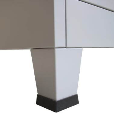 vidaXL Cacifo com 6 compartimentos aço 90x45x180 cm cinzento[8/9]