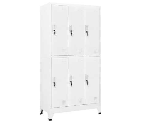 vidaXL Locker Cabinet with 6 Compartments Steel 90x45x180 cm Grey-picture