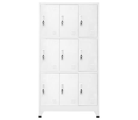 vidaXL Dulap vestiar cu 9 compartimente, oțel, 90 x 45 x 180 cm, gri[2/7]