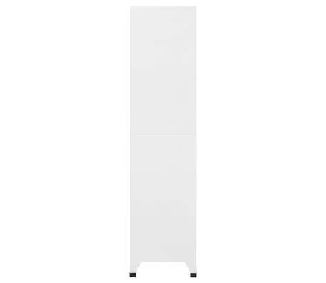 "vidaXL Locker Cabinet with 9 Compartments Steel 35.4""x17.7""x70.9"" Gray[4/7]"