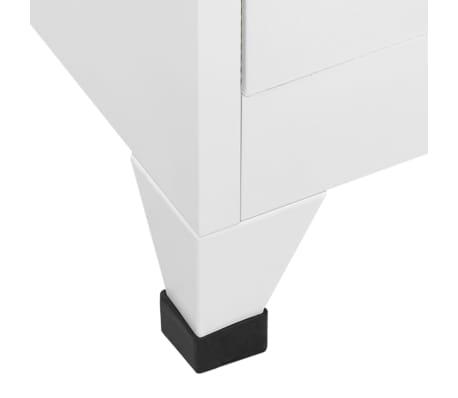 vidaXL Dulap vestiar cu 9 compartimente, oțel, 90 x 45 x 180 cm, gri[6/7]