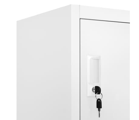 "vidaXL Locker Cabinet with 9 Compartments Steel 35.4""x17.7""x70.9"" Gray[7/7]"