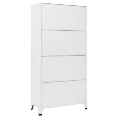 vidaXL Locker Cabinet with 9 Compartments Steel 90x45x180 cm Grey[5/7]