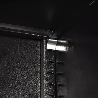 "vidaXL Tool Cabinet with 2 Doors Steel 35.4""x15.7""x70.9"" Black and Red[9/11]"