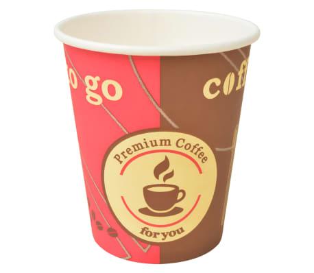 vidaXL Pahare de unică folosință pentru cafea 1000 buc. 240 ml (8 oz)[1/3]