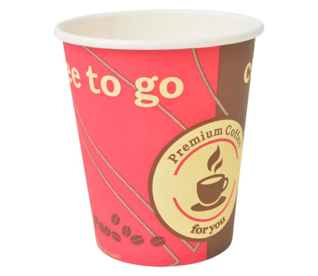 vidaXL Vienk. kavos puodeliai, 1000 vnt., popieriniai, 240 ml (8 oz)[3/3]