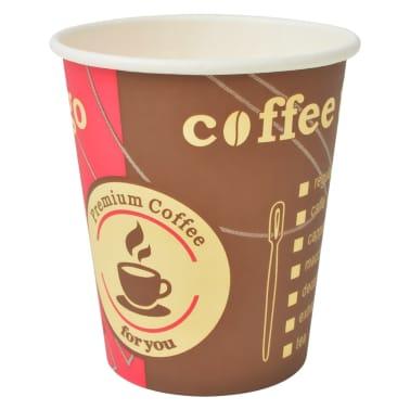 vidaXL Vienk. kavos puodeliai, 1000 vnt., popieriniai, 240 ml (8 oz)[2/3]