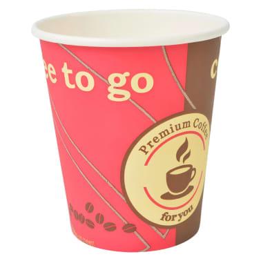 vidaXL Pahare de unică folosință pentru cafea 1000 buc. 240 ml (8 oz)[3/3]