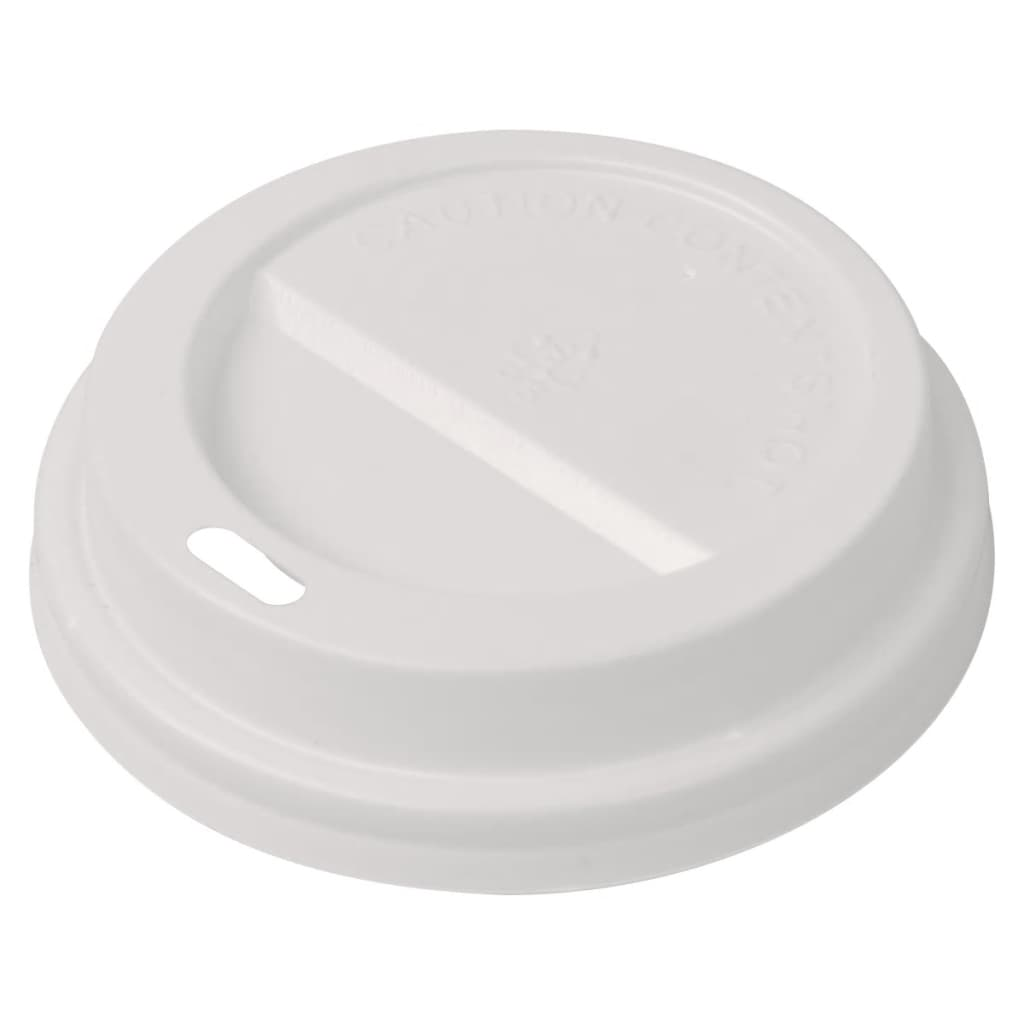 Image of vidaXL 1000 pcs Lids for Disposable Coffee Cups Plastic 80 mm