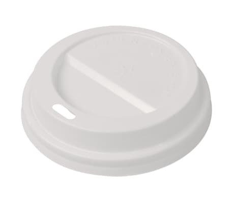 vidaXL 1000 pcs Lids for Disposable Coffee Cups Plastic 80 mm