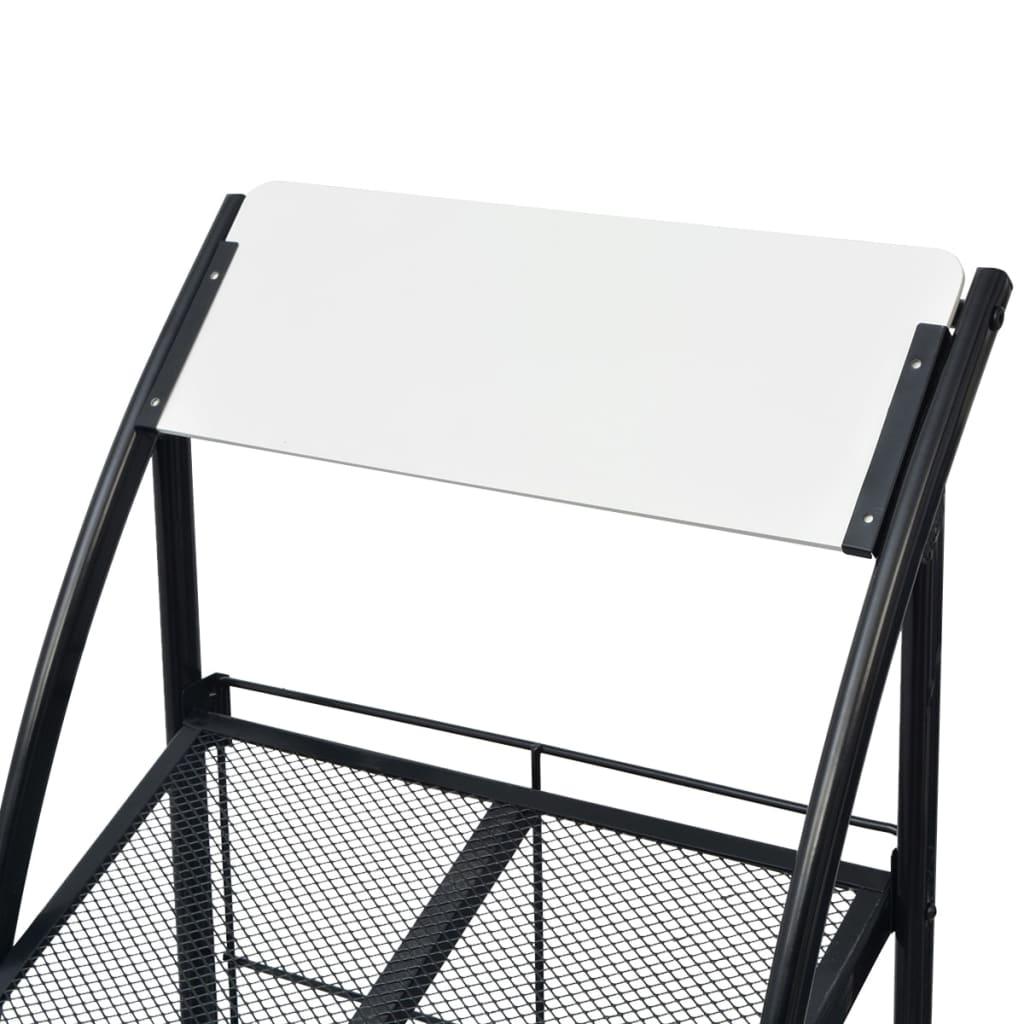 Stojan na časopisy 47x40x134 cm černobílý A4