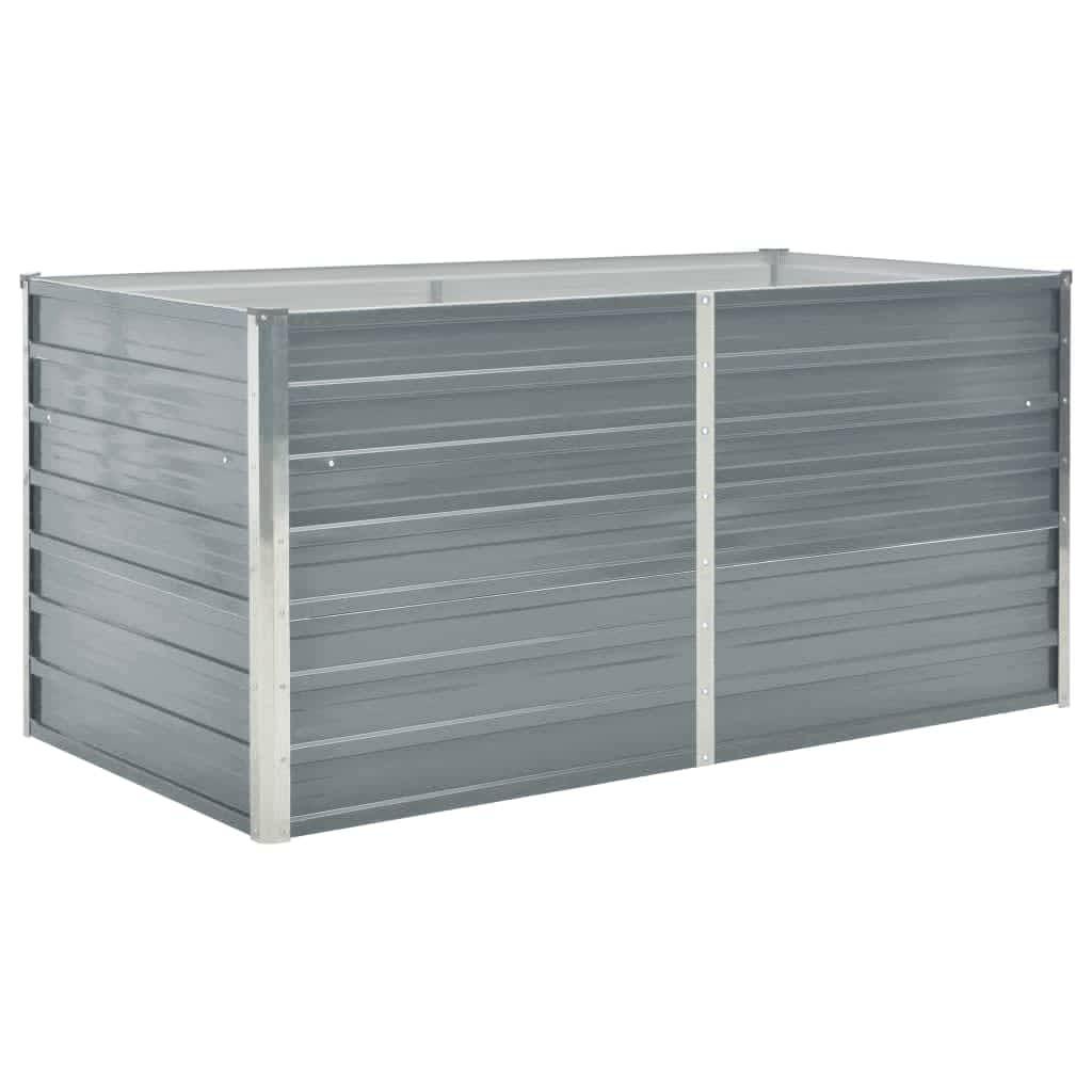 Cette jardinière est extrêmement durable et joliment fabriquée. Elle est assez profonde et large pour contenir d'importantes quantités de sol et offre suffisamment d'espace pour vos plantes, légumes, herbes et fleurs. Grâce à son design rectangulaire simple, elle sera un ajout élégant à tout balcon, terrasse ou patio. Elle est faite d'acier galvanisé et équipée de supports intérieurs, ce qui rend cette jardinière très robuste et durable. Le bord de la jardinière dispose d'un design à bordures repliées, alors pas de danger provenant des bords tranchants.