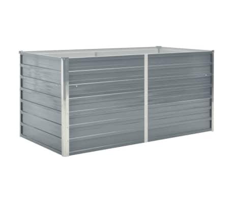 vidaXL Raised Garden Bed 160x80x77 cm Galvanised Steel Grey
