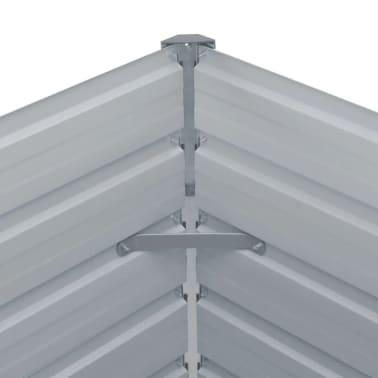 vidaXL Hochbeet 160 x 80 x 77 cm Verzinkter Stahl Grau[4/6]