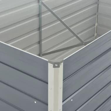 vidaXL Hochbeet 160 x 80 x 77 cm Verzinkter Stahl Grau[5/6]