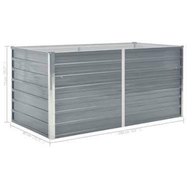 vidaXL Hochbeet 160 x 80 x 77 cm Verzinkter Stahl Grau[6/6]