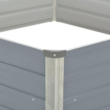vidaXL Hochbeet 129 x 129 x 46 cm Verzinkter Stahl Grau[4/6]