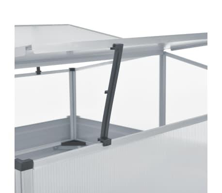 vidaXL Gewächshaus Grau Verzinkter Stahl 100×100×85 cm[5/7]