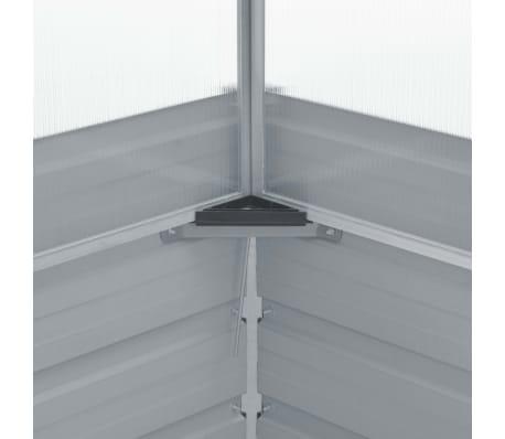 vidaXL Gewächshaus Grau Verzinkter Stahl 100×100×85 cm[6/7]