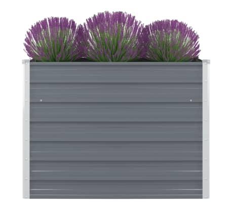 """vidaXL Raised Garden Bed 39.4""""x39.4""""x30.3"""" Galvanised Steel Gray"""