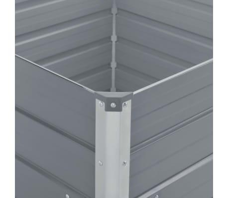 vidaXL Hochbeet 100 x 100 x 77 cm Verzinkter Stahl Grau[4/6]