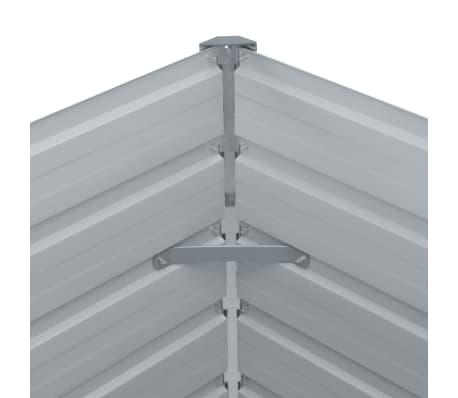 vidaXL Hochbeet 100 x 100 x 77 cm Verzinkter Stahl Grau[5/6]