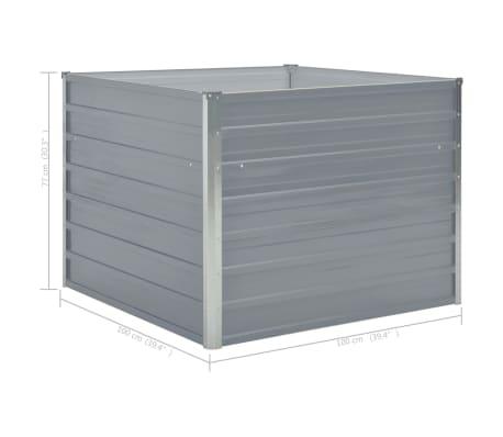 vidaXL Hochbeet 100 x 100 x 77 cm Verzinkter Stahl Grau[6/6]