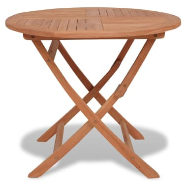 vidaXL Outdoor Dining Table Round Solid Teak[1/5]