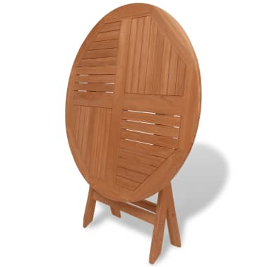 vidaXL Outdoor Dining Table Round Solid Teak[3/5]