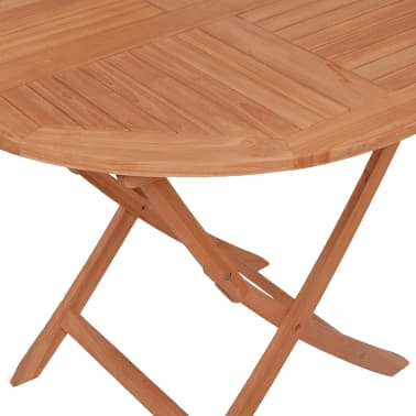 vidaXL Outdoor Dining Table Round Solid Teak[4/5]