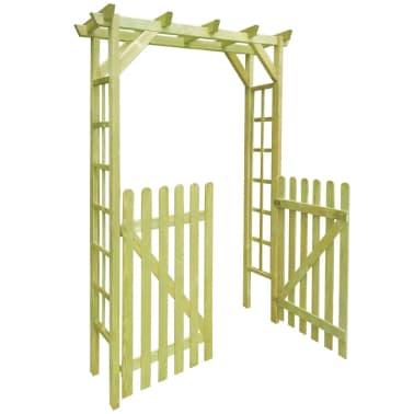 acheter vidaxl arche pour rosiers porte de jardin bois impr gn 150x50x200 cm pas cher. Black Bedroom Furniture Sets. Home Design Ideas