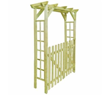 acheter vidaxl arche pour rosiers porte de jardin bois. Black Bedroom Furniture Sets. Home Design Ideas