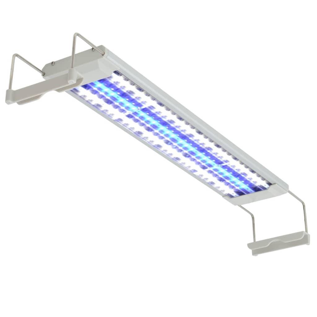 vidaXL LED akvarijní lampa 50–60 cm hliník IP67