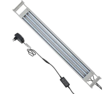 vidaXL Lámpara LED de acuario 80-90 cm aluminio IP67[8/14]