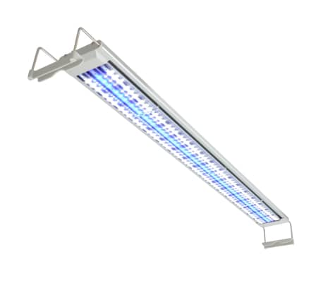 vidaXL LED Akvarielampa 120-130 cm aluminium IP67