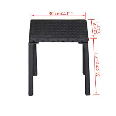 vidaXL Solsängar med bord konstrotting svart[7/7]