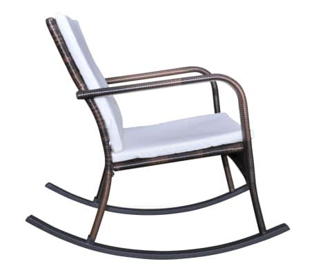 vidaXL Supamoji lauko kėdė, ruda, sintetinis ratanas[3/4]