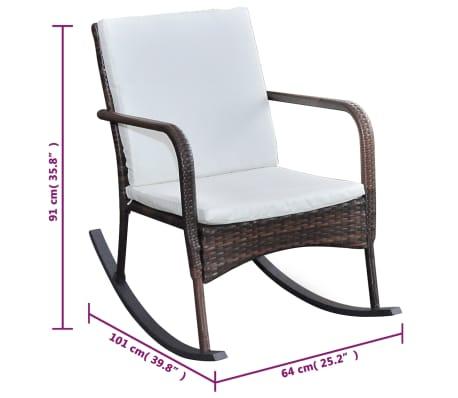 vidaXL Supamoji lauko kėdė, ruda, sintetinis ratanas[4/4]