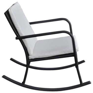 vidaXL Supamoji lauko kėdė, juoda, sintetinis ratanas[3/4]