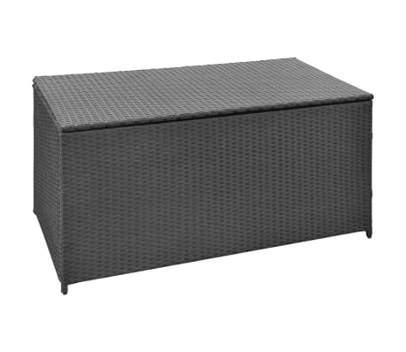 vidaxl garten aufbewahrungsbox poly rattan schwarz im vidaxl trendshop. Black Bedroom Furniture Sets. Home Design Ideas